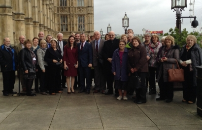 Ribble Valley Association members at the Houses of Parliament