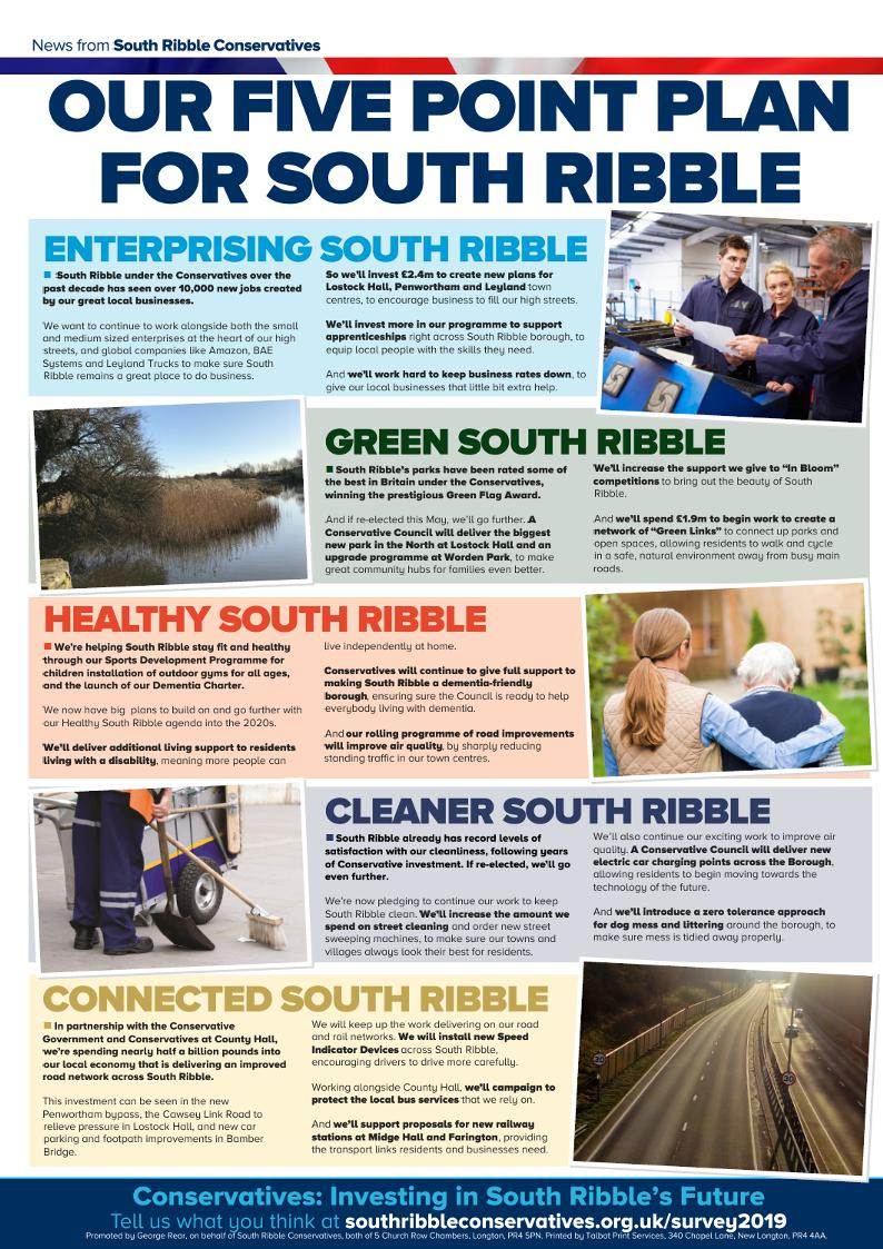 South Ribble Election Leaflet